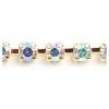 Rhinestone Chain SS8.5 Gold Crystal Aurora Borealis
